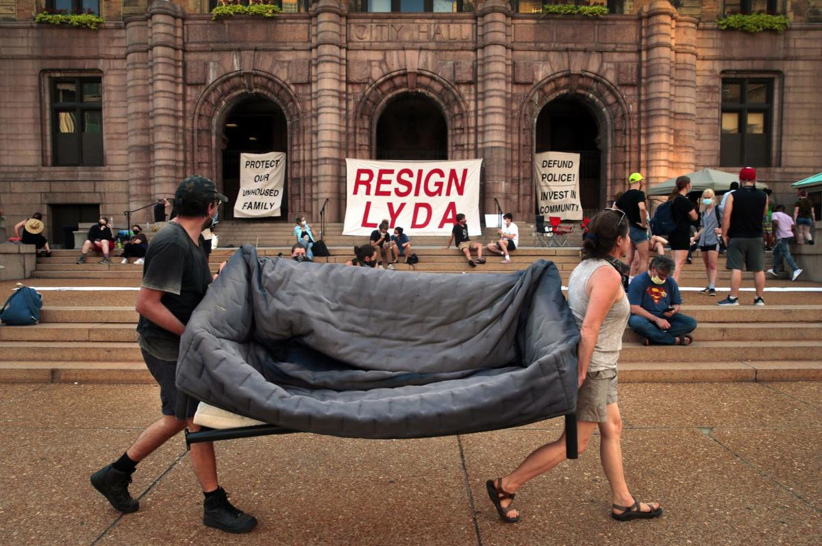 Protesters plan to camp in front of City Hall until demands are met