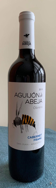 Aguijón de abeja obrera 2018 Cabernet Frank, San Juan, Argentina