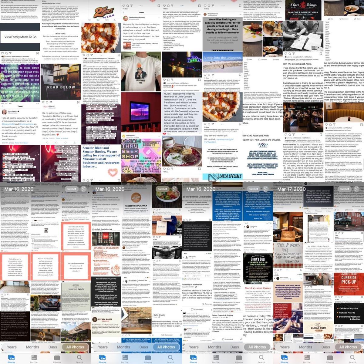 restaurant news collage