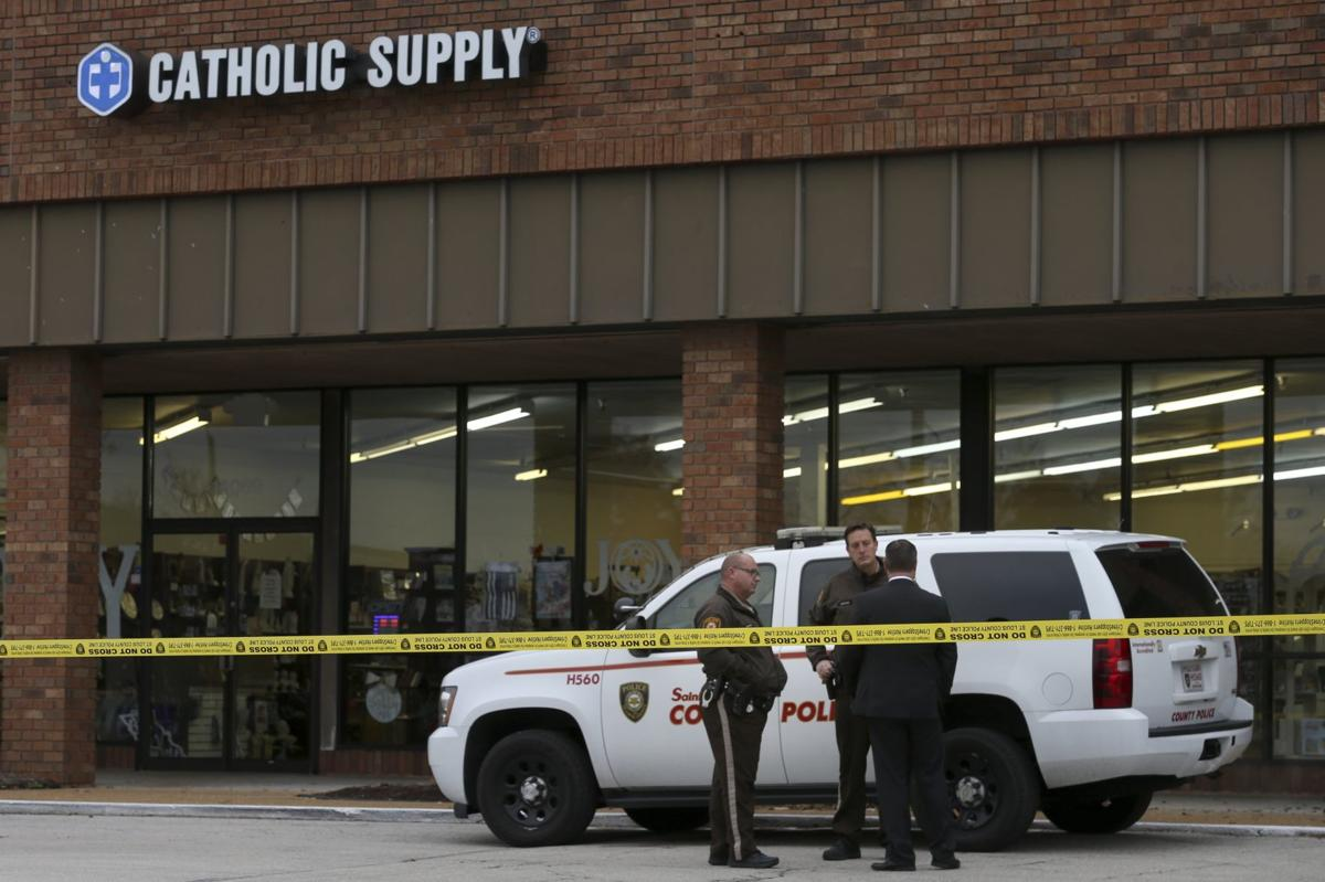 Gunman on the loose after fatal shooting, sexual assault at Catholic Supply store in St. Louis County