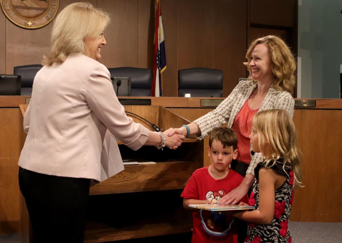 New county councilwoman Kelli Dunaway
