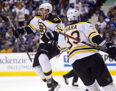 APTOPIX Stanley Cup Bruins Canucks Hockey