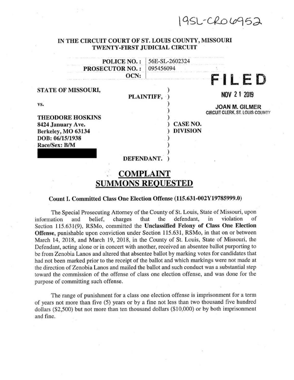 Charges against Berkeley mayor Ted Hoskins