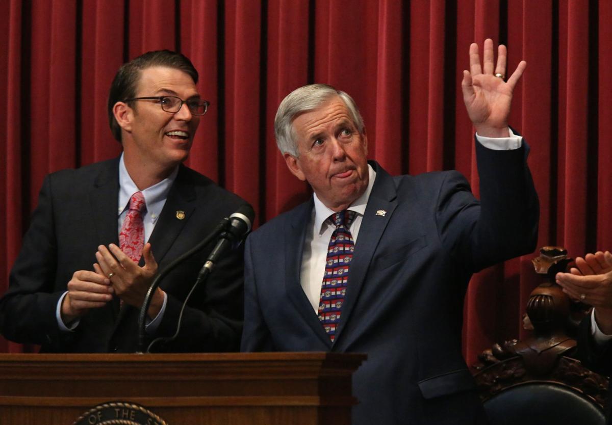 Gov Parson addresses the Missouri legislature
