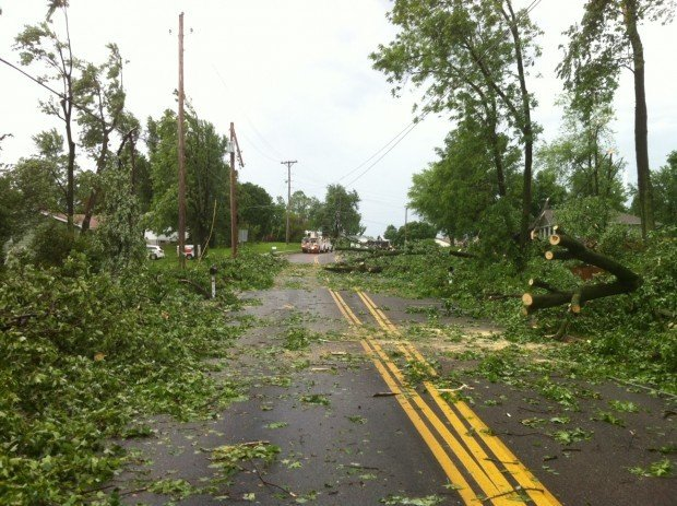 Damage in St. Charles