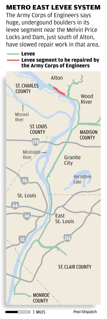 Map: Metro east levee system