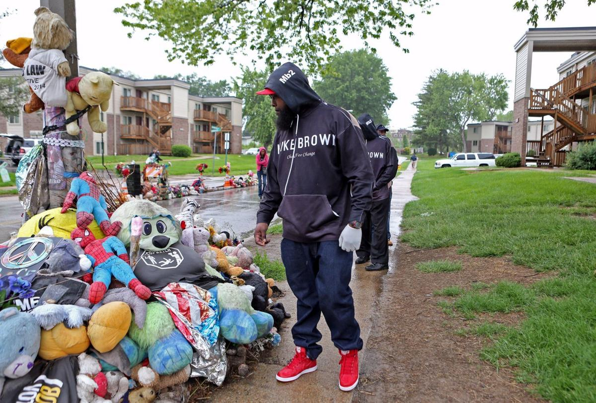 Michael Brown memorial stands on Canfield Drive