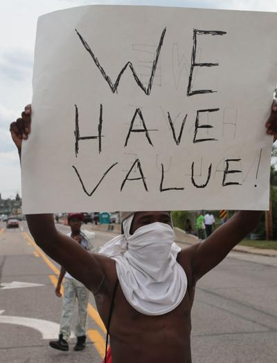 Protesting Michael Brown's death