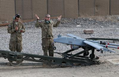 Contractor Peter Sunder flies drones in Afghanistan