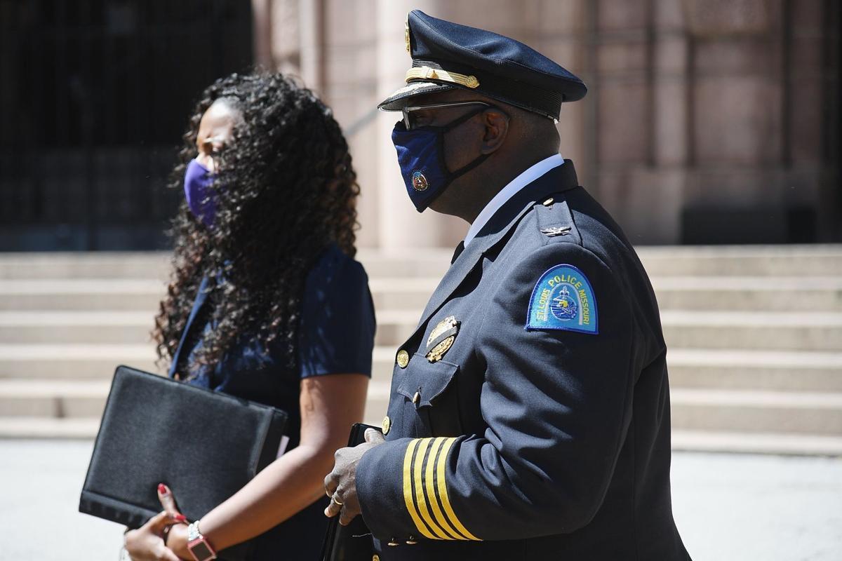 St. Louis City Police Chief John Hayden announces his plan to retire