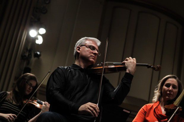 Rehearsal at the St. Louis Symphony Orchestra