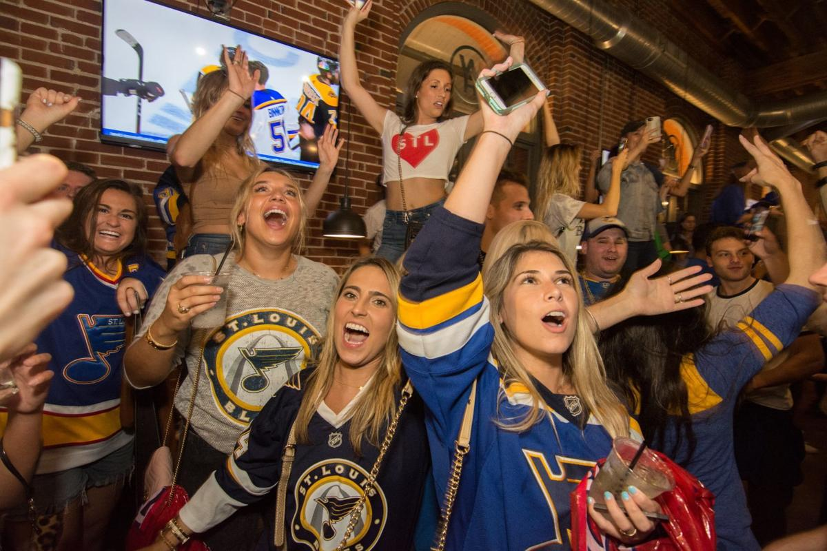 Blues Fans at Wheelhouse during Stanley Cup Final Game 7. Spons
