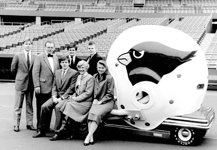 Bidwill family at the end of the 1987 St. Louis season