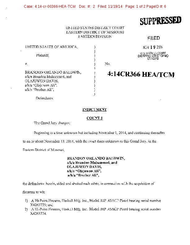 Federal indictment