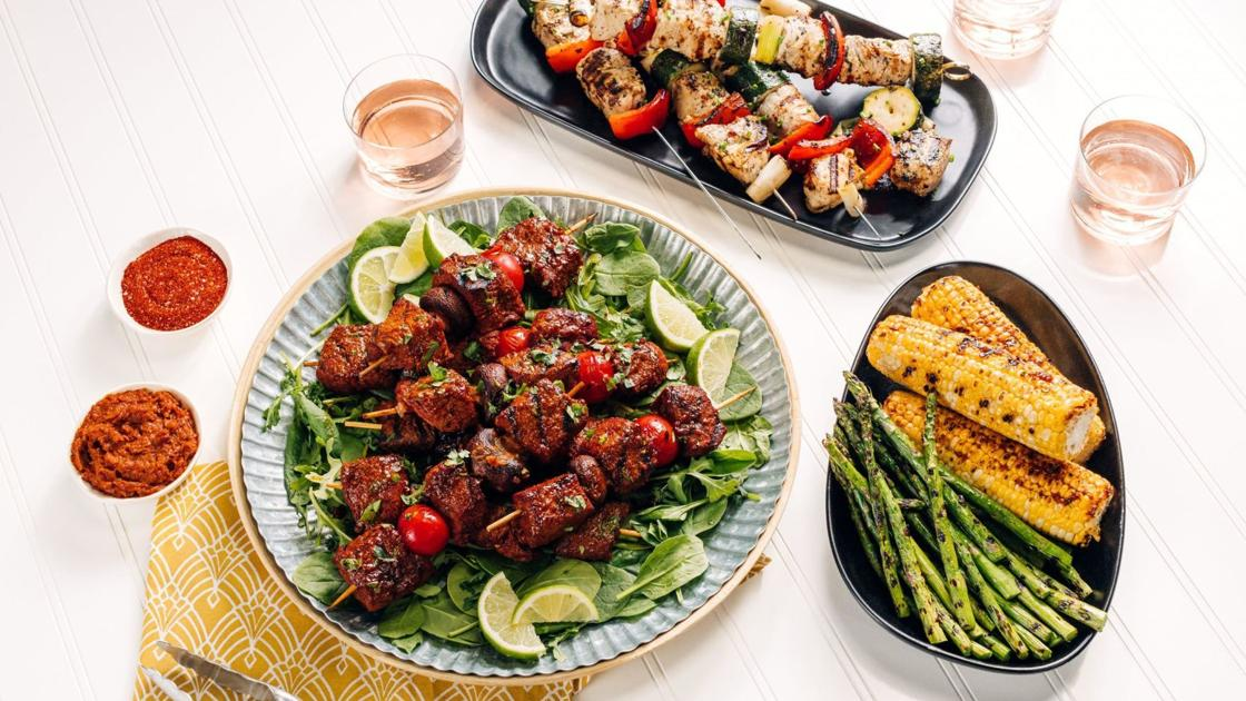 Welcome grilling season with kebabs