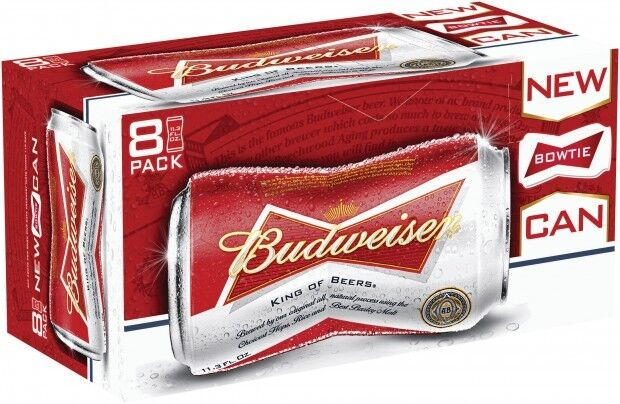 Budweiser bowtie cans 8-pack