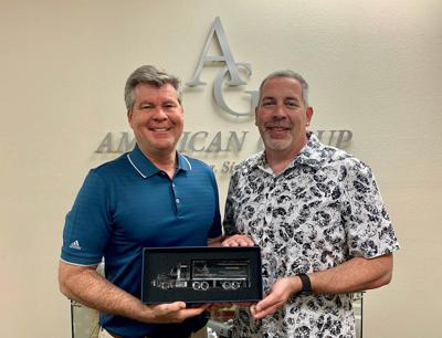 John Sullivan (Dayton Freight Corporate Account Manager), Michael Schember (American Group CEO)