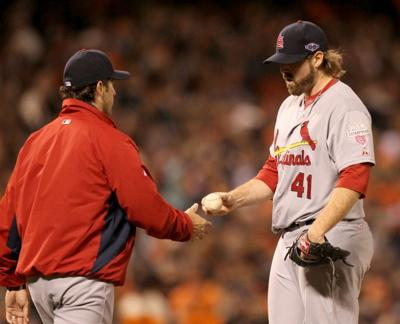 The St. Louis Cardinals vs. the San Francisco Giants in Game 7 of the NLCS