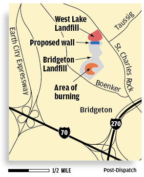 West Lake Landfill map