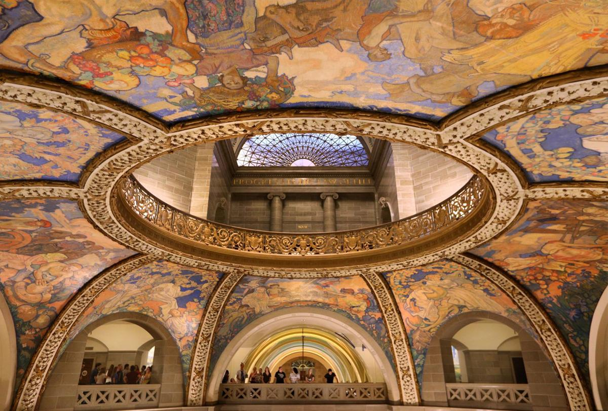 The Missouri capitol is its own museum of art