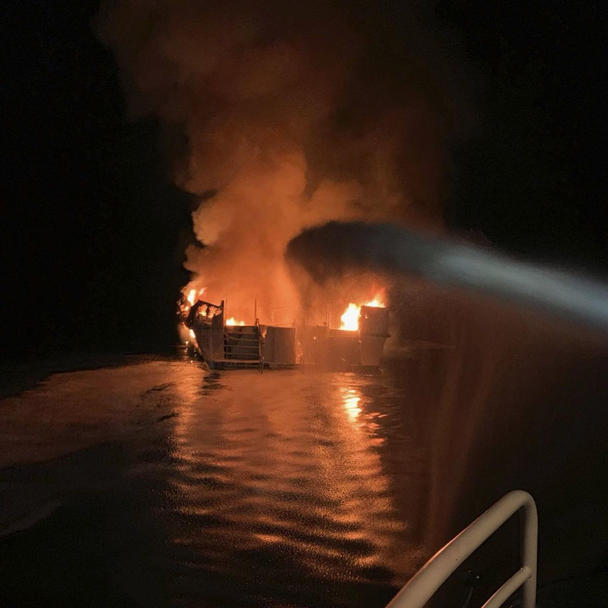 No one found alive among 34 missing after dive boat catches