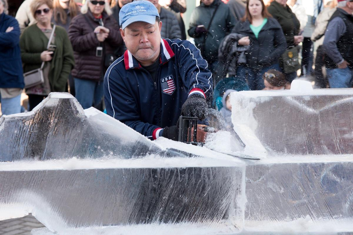 Fete de Glace Ice Carving Competition in St. Charles