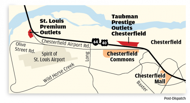 Chesterfield Outlet Malls Map
