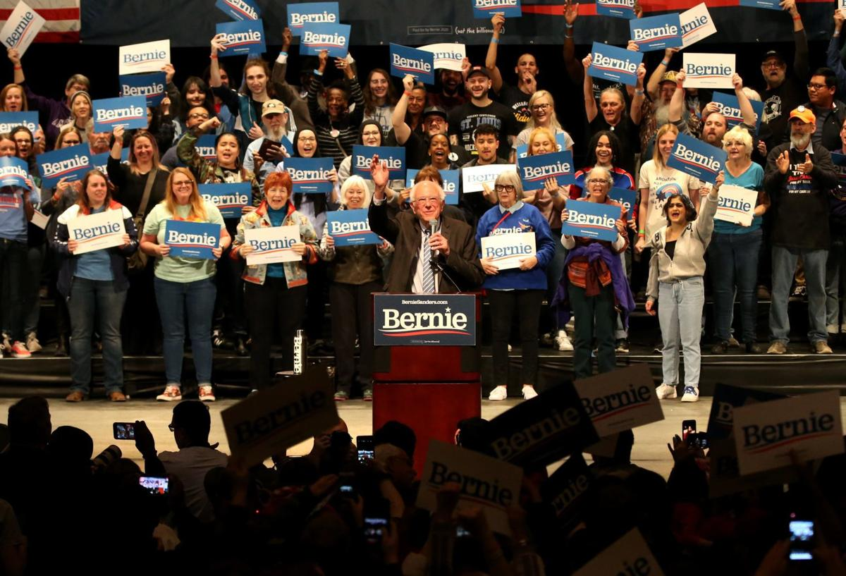 Bernie Sanders revs up supporters in St. Louis ahead of Tuesday's presidential primary