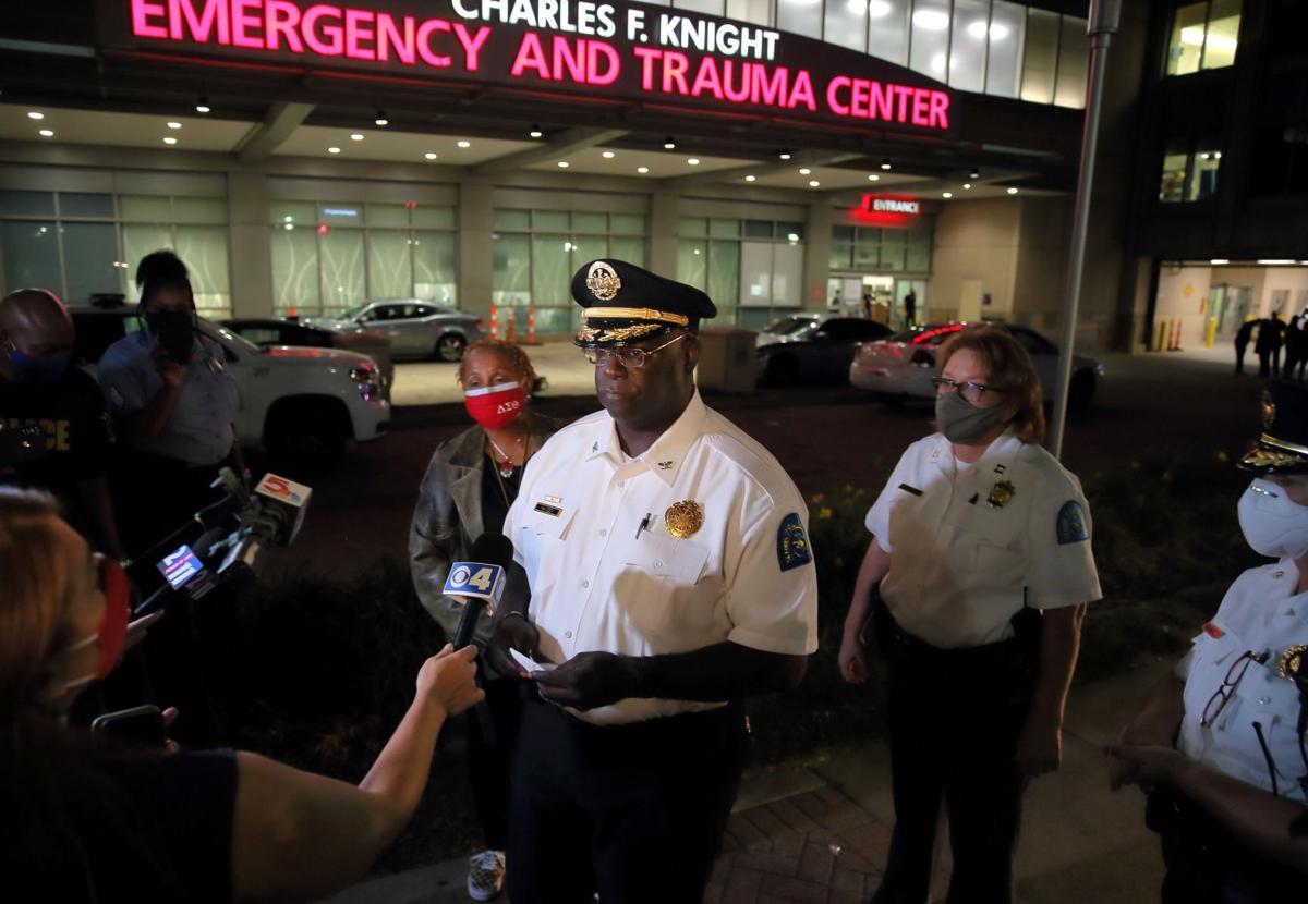 Police officer shot in the shoulder