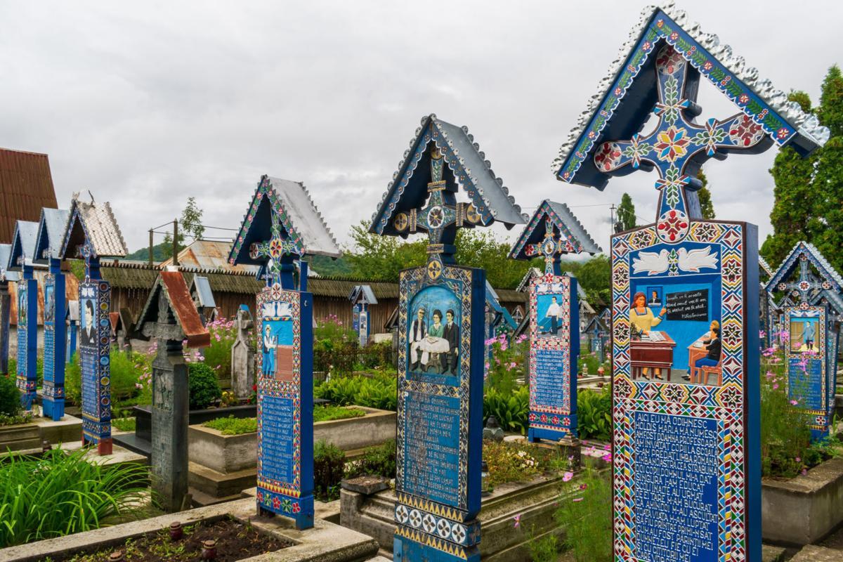 The Merry Cemetery from Sapanta, Maramures, Romania