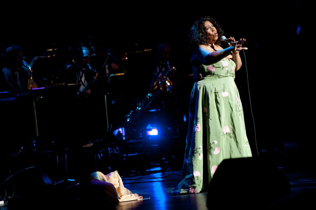 Aretha Franklin at the Peabody Opera House in 2011