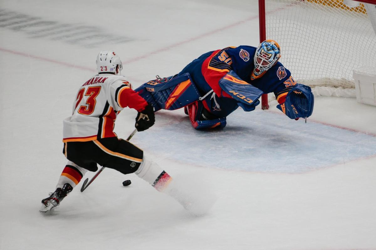 Blues take on Calgary Flames at the Enterprise Center