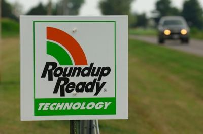 Roundup Ready sign in field