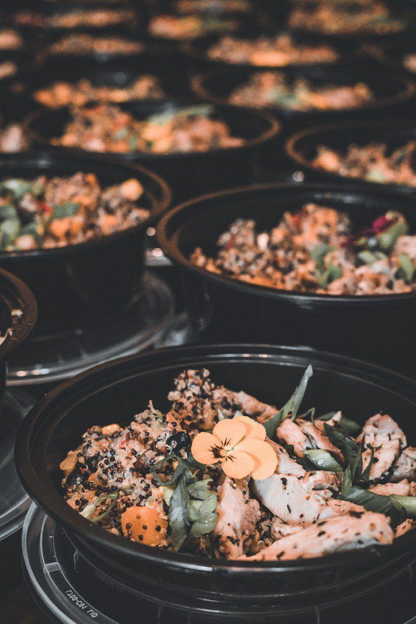 Juwan Rice prepares food
