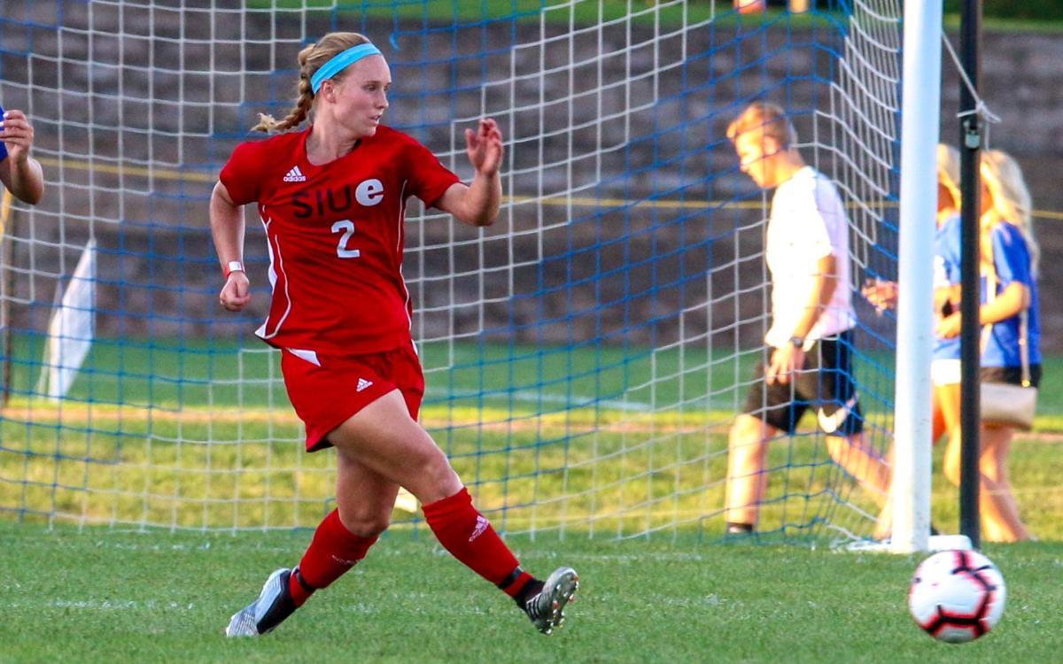 SIUE soccer player Andrea Frerker