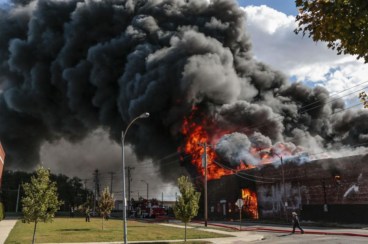 Warehouse Fire on N. 13th St. and Howard St. in St. Louis