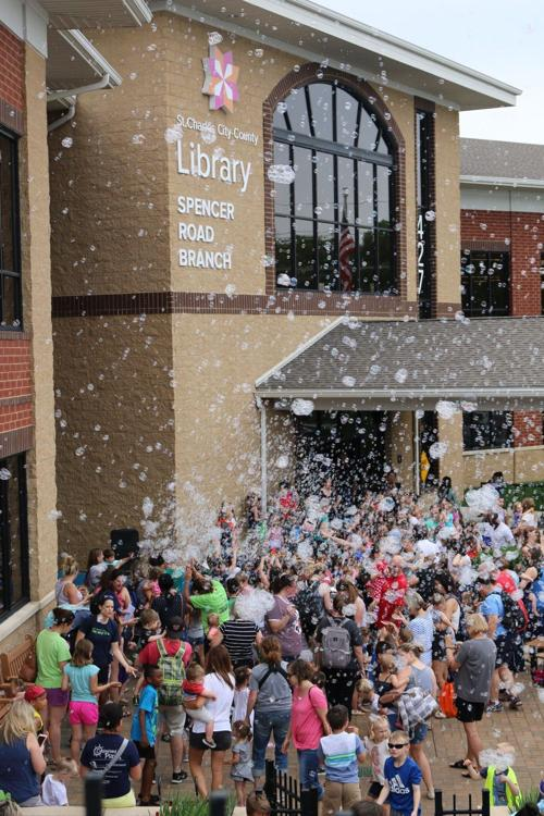 Bubbles at Spencer Road library