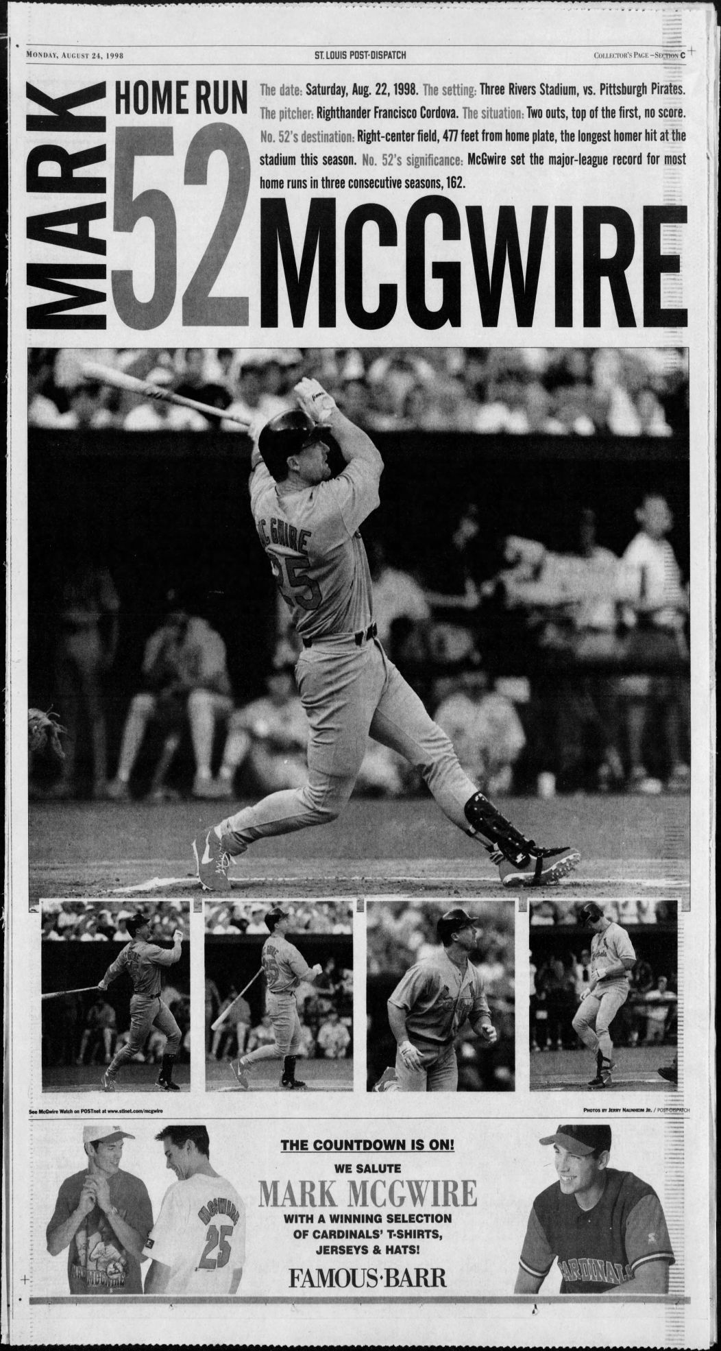 20 years ago: McGwire hits 70 and is saluted as 'the new