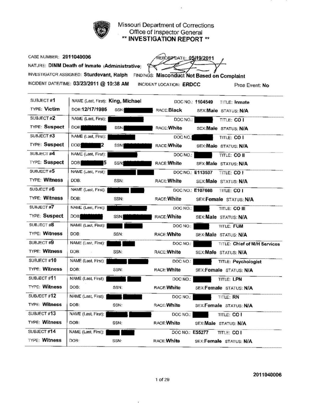 The secret world of investigating prison deaths in Missouri