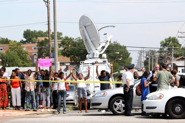 St. Louis police-involved shooting sparks