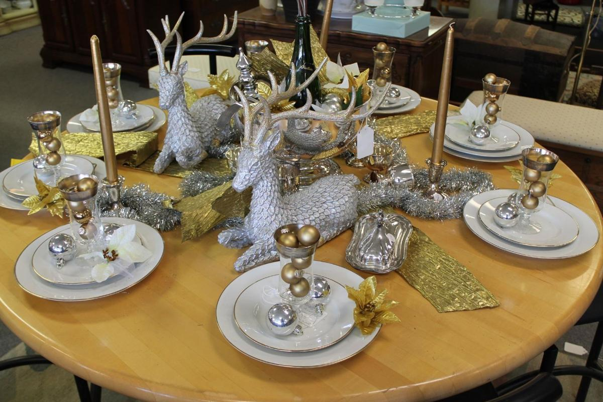 Holiday tabletops: Silver and gold