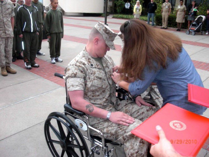 Wounded warrior relies on what the Marines taught him: Never give up 2