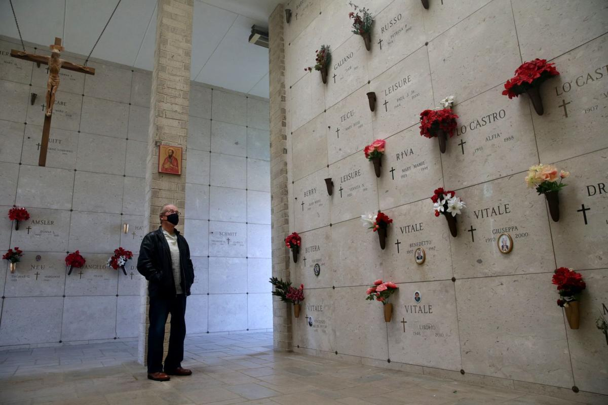 David Hill visiit his wife Julie daily inside the Mausoleum