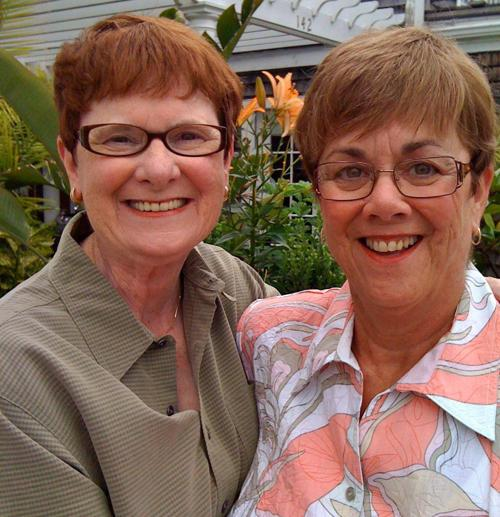Mary Walsh (left) and Bev Nance