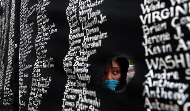 Thousands march downtown on Ferguson October