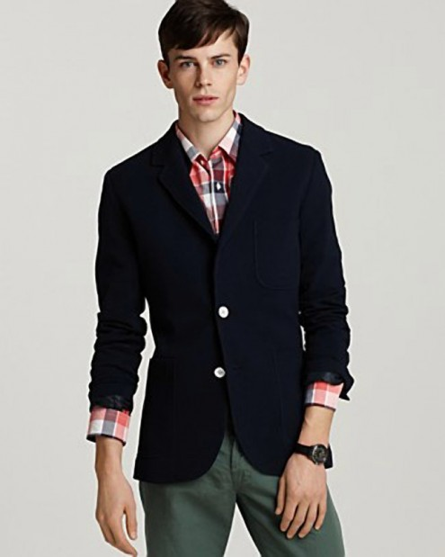 Spring sportcoat for Men from Bloomingdale's, Shades of Grey by Micah Cohen Knit 2-button blazer