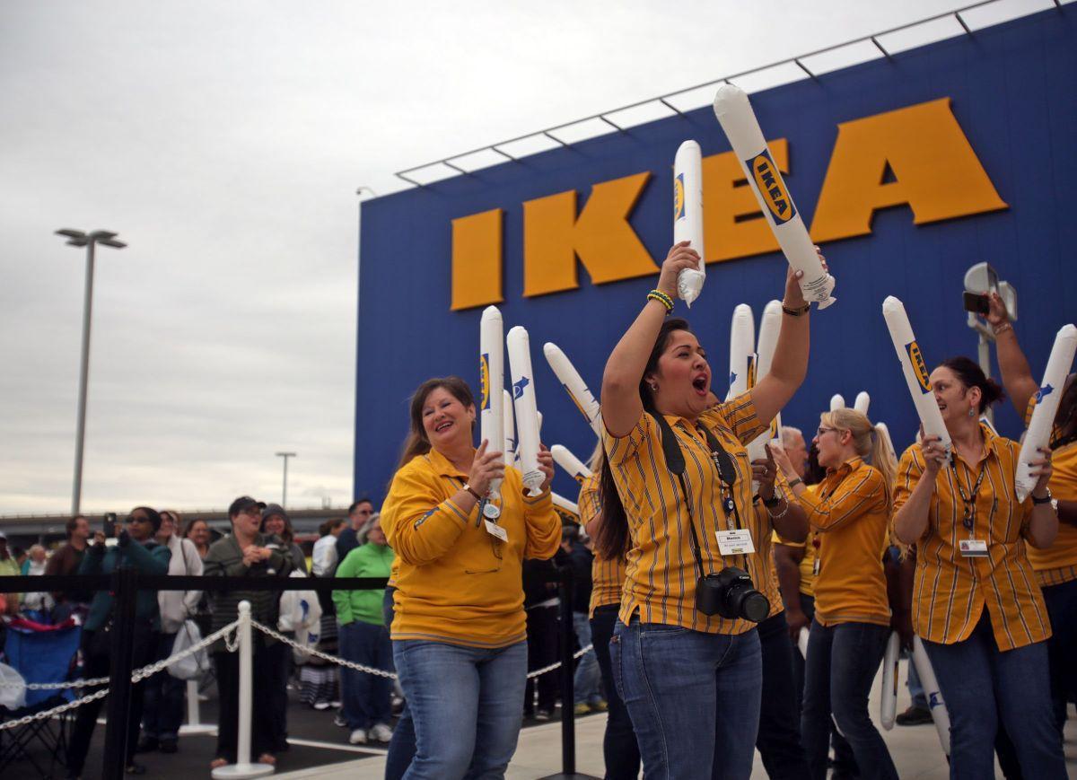 Ikea Employees With Thunder Sticks