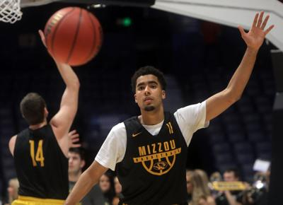 Mizzou practices in Nashville for First Round NCAA game