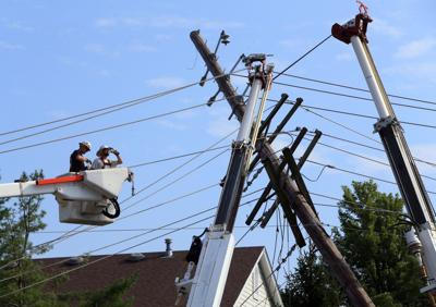 Power lines repaired after storm damage