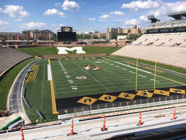 Mizzou south end zone balcony
